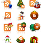 Free Christmas RSS icons for blogs